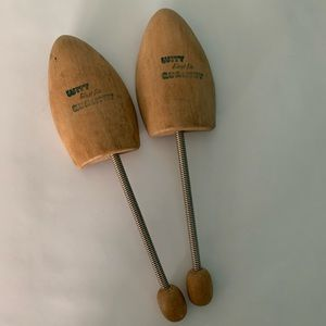 Antique Carved Wooden Shoe Shapers